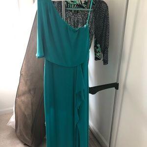 BCBG One Shoulder Gown